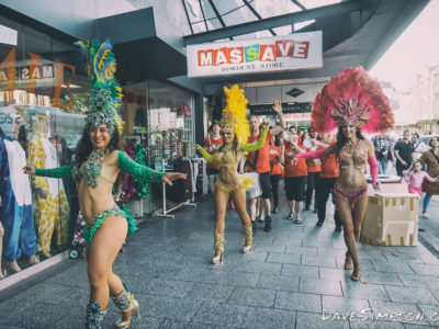 Brazilian Divas and Ak Samba on K Rd, First Thursdays 1 December 2016